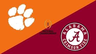 2017 College Football National Championship Preview: Clemson Tigers/Alabama Crimson Tide