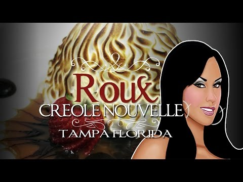 Roux - New Orleans Creole Nouvelle in Tampa Florida! Seafood Gumbo Shrimp and Grits Bread Pudding