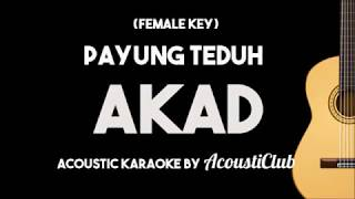 download lagu Female Key Payung Teduh - Akad Acoustic Guitar Karaoke gratis