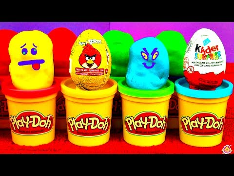 11 Surprise Eggs Kinder Surprise Angry Birds Disney Cars LEGO Peppa Pig Toy Story Spongebob Play-Doh