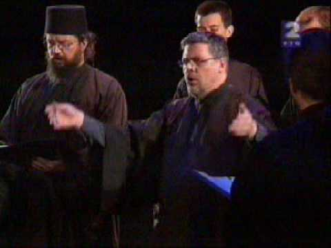 Serbian Orthodox Byzantine Chant - Moisey Petrovich on TV