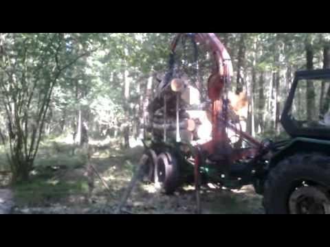 Załadunek drzewa Ursus c-360 HDS