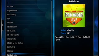 Pak India Live HD Addon in Kodi to watch Pakistani and Indian Live TV Channels and Movies for free