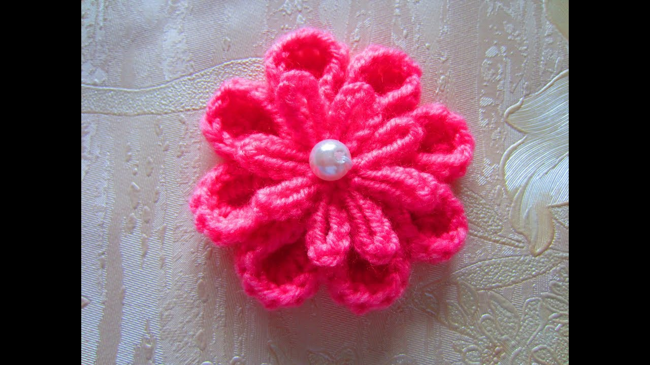 Вязаные цветы 9