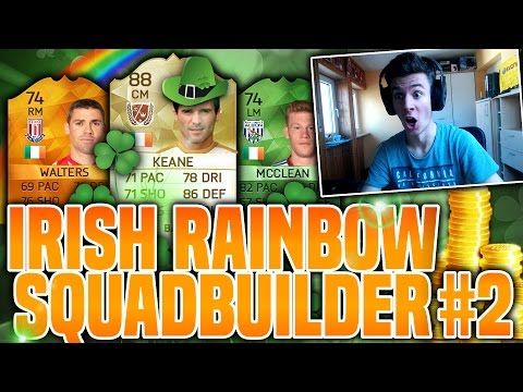 IRISH RAINBOW SQUADBUILDER w/ LEGEND!! ST PATRICKS DAY CUP #2 | FIFA 16 ULTIMATE TEAM
