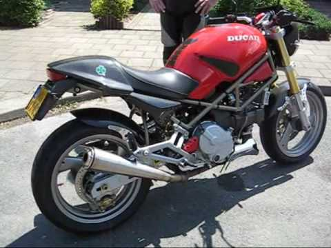 Cagiva Gran Canyon 900 ie with GPR exhaust (Ducati engine)