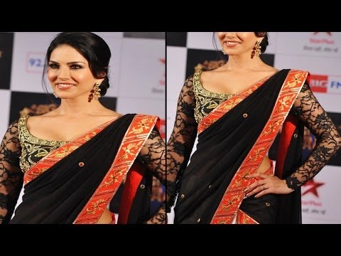 Hot Babe Sunny Leone In Sexy Saree Look Gorgeous