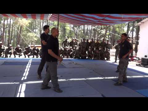 Tuhon Rommel and  Agalon Kanishka training Special Force in Pekiti Tirsia Kali Image 1