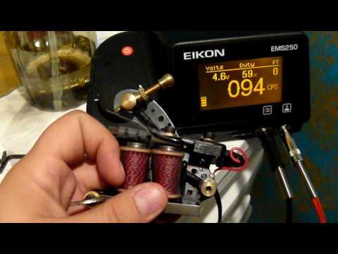 Tags: tattoo machine tuning setup lining shading eikon ems250