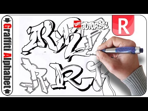 How to Draw Graffiti Letter R