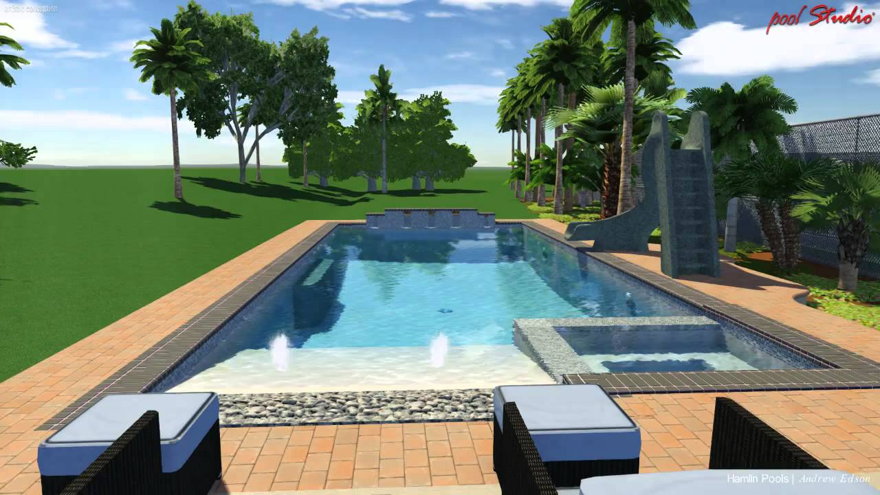Pool studio 3d swimming pool design software youtube for Pool design polen