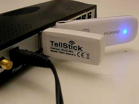 DOVADO UMR with Telldus Technologies TellStick