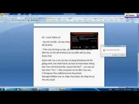 [Video hướng dẫn] Cài đặt và crack idm 6.14 mới nhất