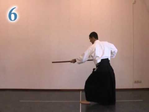 aikido instruction; 6 jo kata / roku no kata / six count kata Image 1