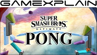 Functional Multiplayer Pong Created in Smash Bros. Ultimate's Stage Builder!