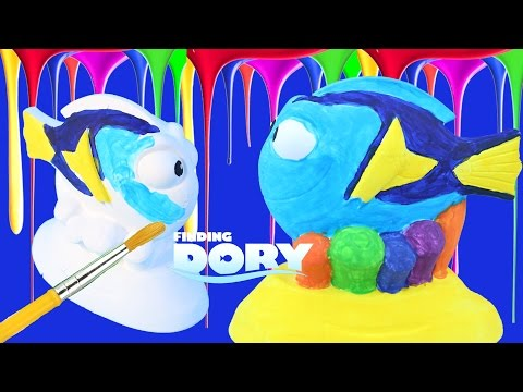 DIY How To Make Water Paint Crayola Finding Dory Compilation Disney Pixar Color Book