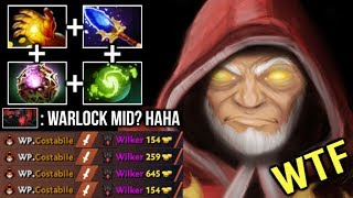 When All Core Heroes Fail But.. Mid Warlock Carry The Game OC Scepter Build Non-Stop Golems Dota 2