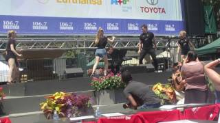 Tyler Hanes and the Cast Of Cats at Broadway In Bryant Park 07-20-2017