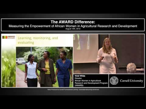 "Vicki Wilde - ""Measuring the Empowerment of African Women in Agricultural R & D"""