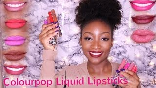 COLOURPOP ULTRA MATTE LIQUID LIPSTICKS |  Lip Swatches On Darskin