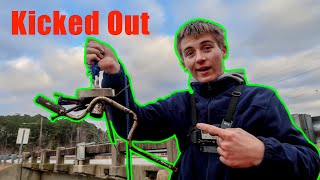 Magnet Fishing Gone Wrong (Kicked Out)