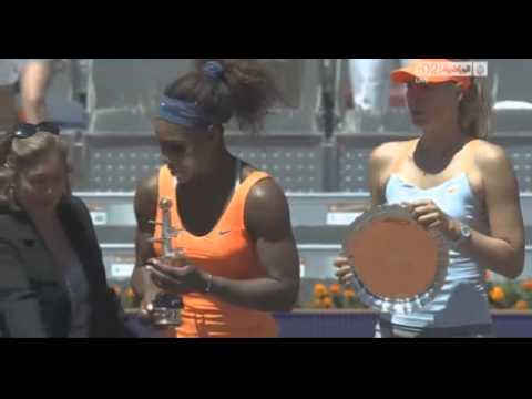Serena Williams vs Maria Sharapova - Mutua Madrid 2013 - Final game and trophy ceremony