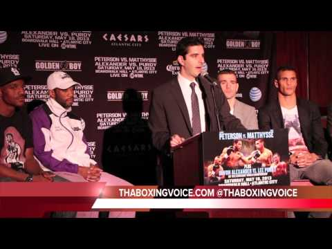 LAMONT PETERSON VS LUCAS MATTHYSSE PRESS CONFERENCE