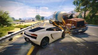 GTA 5 High Speed Car Crashes - High Jumps and Flips Ep#19