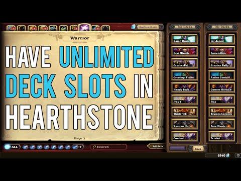 More deck slots hearthstone