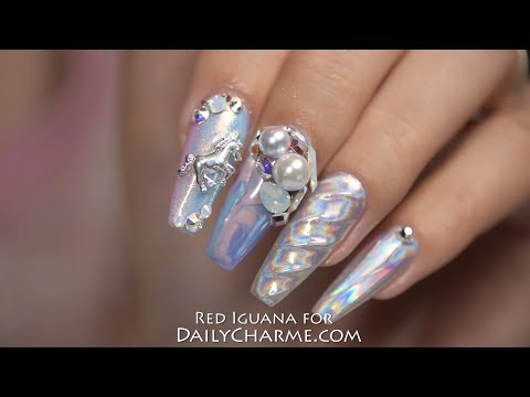 Holographic Unicorn Nails with Daily Charme Products | April Ryan | Red Iguana
