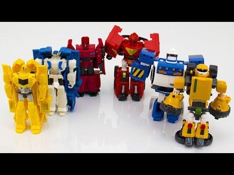 Мультик - Красные, синие и желтые роботы выясняют, кто круче