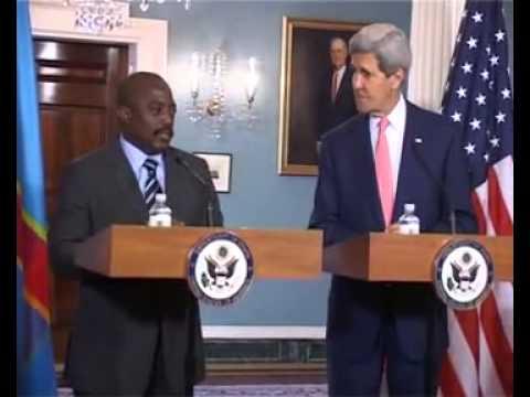 Conférence de presse du Président Kabila et Jhon Kerry