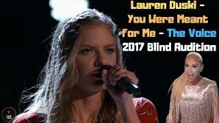 Lauren Duski - You Were Meant for Me - The Voice 2017 Blind Audition