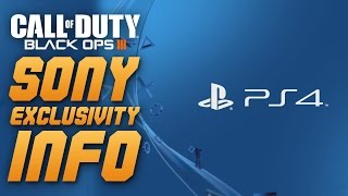 Call of Duty: Black Ops 3 - SONY/PS4 DLC EXCLUSIVITY DEAL INFO - PS4 EARLY ACCESS!