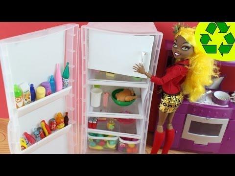 C�mo hacer un refrigerador o heladera para mu�ecas