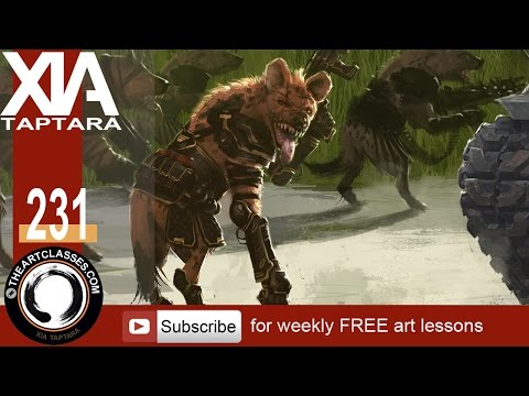 Digital painting tutorial team Hyena commandos concept art