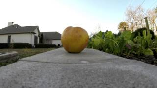 Shooting Apples at 120 Frames Per Second - GoPro Hero3