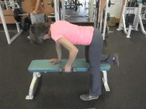Improve Your Posture with Strength Training: Single-Arm Row on a Bench Using Free Weight Dumbbells Image 1