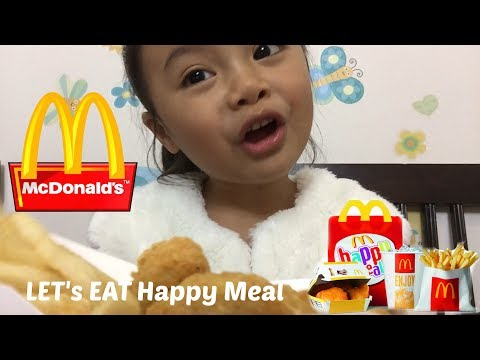 McDonald Happy Meal CHICKEN NUGGETS Mukbang - Let's Eat