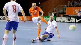 Zaalvoetbal: Highlights Nederland - Servië 2-3 (6-1 2015)
