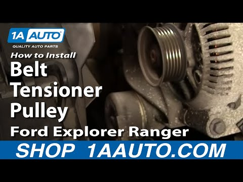 How To Install Replace Belt Tensioner Pulley Ford Explorer Ranger Mountaineer 4.0L 93-01 1AAuto.com