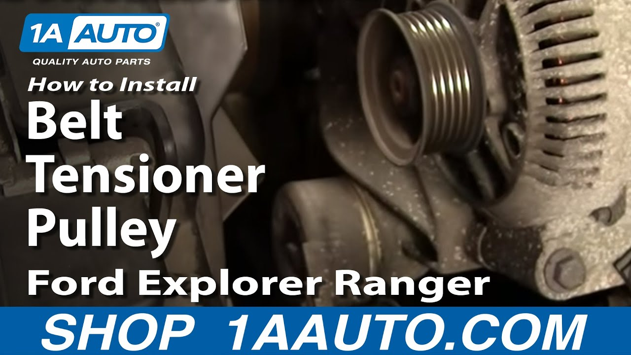 97 ford explorer wiring diagram how to install replace belt tensioner pulley    ford       explorer     how to install replace belt tensioner pulley    ford       explorer
