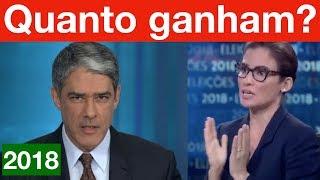 Quanto ganha William Bonner e Renata Vasconcellos? Bolsonaro expõe a hipocrisia da Globo nisto!