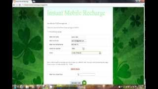 Free Instant mobile Recharge 2012  working 100% + Proof