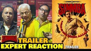 Simmba Trailer (Remake of Telugu Film Temper) | EXPERT REACTION | Ranveer Singh | Rohit Shetty Film