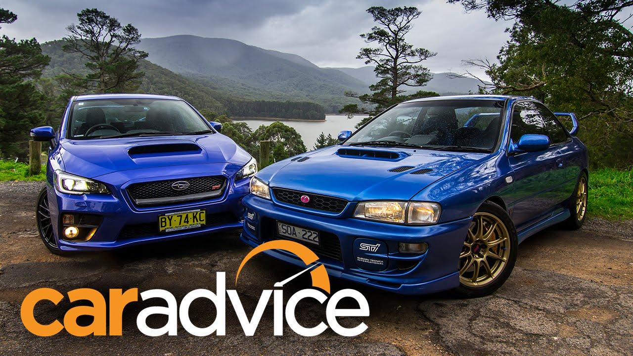Subaru Wrx Sedan >> Subaru WRX STI comparison video: 2015 sedan v 1999 two-door - YouTube