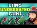 THE BURST RIFLE IS INSANE! | USING UNDERRATED GUNS - (Fortnite Battle Royale)