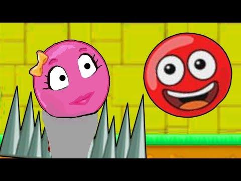 Красный Шарик И РОЗОВЫЙ ШАР ДЕВОЧКА - Red Ball только для детей!