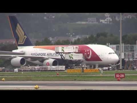 "Airbus A380 von Singapore Airlines / ""50 Years Republic of Singapore"""