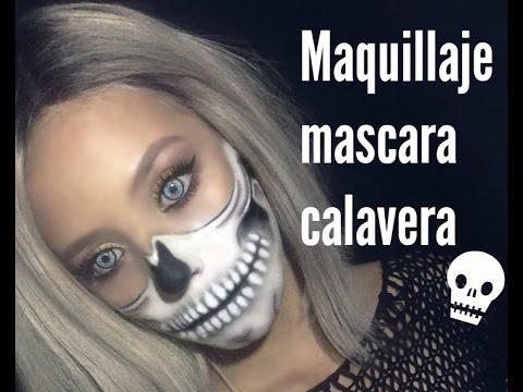 Maquillaje mascara calavera HALLOWEEN